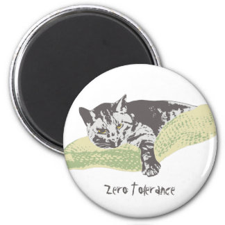 Cat Zero Tolerance Magnet