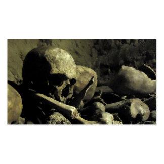 catacomb bones business cards