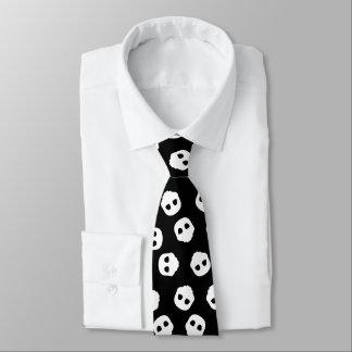 Catacomb White Skulls on Black Gothic Alternative Tie