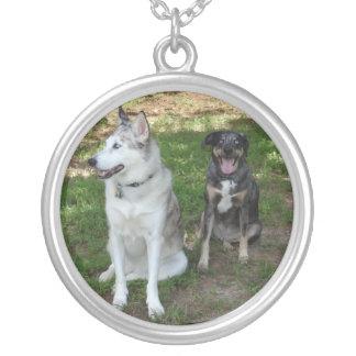 Catahoula and Ausky Dog Buddies Necklace