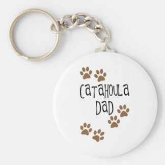 Catahoula Dad Basic Round Button Key Ring