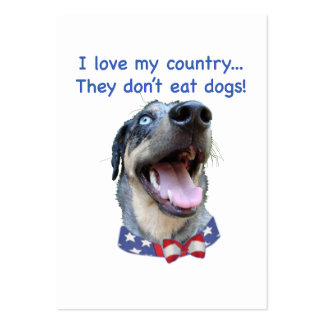 Catahoula Don t Eat Dogs Business Card