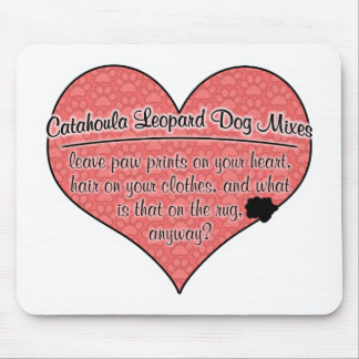 Catahoula Leopard Dog Mixes Paw Prints Dog Humour Mousepads