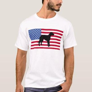 catahoula leopard dog silhouette flag T-Shirt