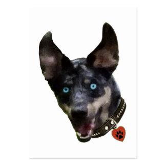 Catahoula Pawprint Dog Heart Business Card Templates