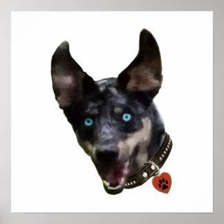 Catahoula Pawprint Dog Heart Print