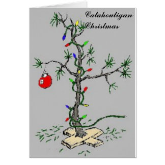Catahouligan Christmas Tree Card