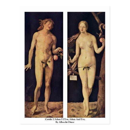 Català: L'Adam I L'Eva, Adam And Eve Postcard