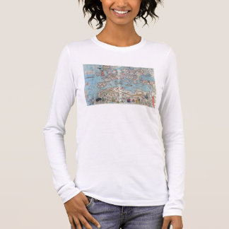Catalan Atlas: Detail of North Africa and Europe, Long Sleeve T-Shirt