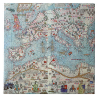 Catalan Atlas: Detail of North Africa and Europe, Tile