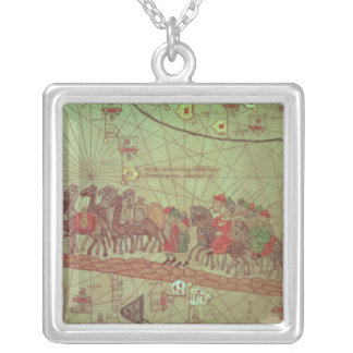 Catalan Atlas, detail showing Silver Plated Necklace