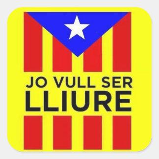 Catalan Estelada flag Square Sticker