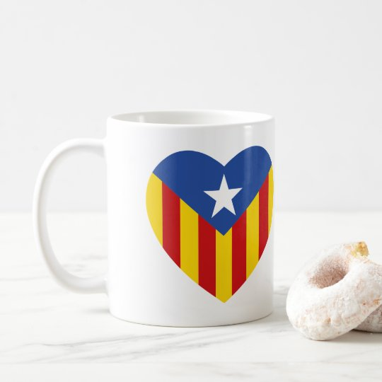 Catalan Flag Heart Coffee Mug