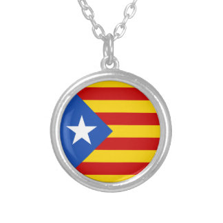 Catalan independentist Flag Silver Plated Necklace