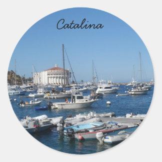 Catalina, California Classic Round Sticker