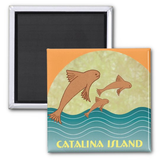 Catalina Flying Fish Square Magnet