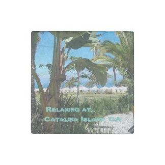 Catalina Island, CA Stone Magnet