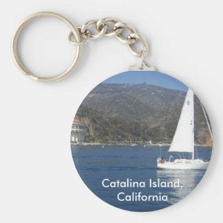 Catalina Island, California Basic Round Button Key Ring