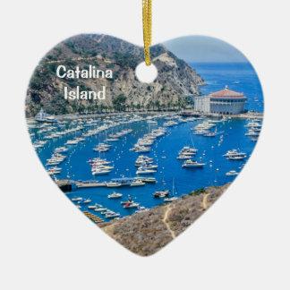 Catalina Island Ceramic Heart Decoration