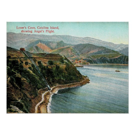 Catalina Island, Lover's Cove, California Vintage Poster