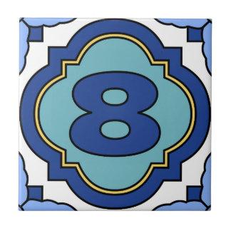 Catalina Island Number Address Tile 8