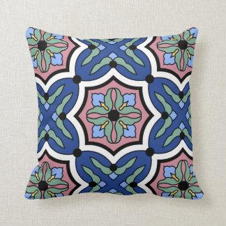 Catalina Island Tile Vintage 1920s Design Cushion
