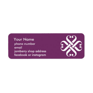 Catalogue label for Jamberry Nails Return Address Label