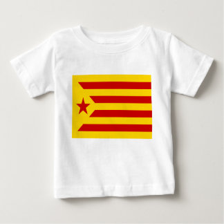 Catalonia Red Starred Flag Baby T-Shirt