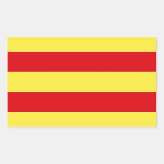 Catalonia (Spain)  Flag Rectangular Sticker
