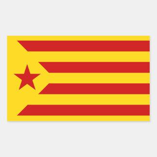 Catalonian Socialist Estelada Flag Sticker