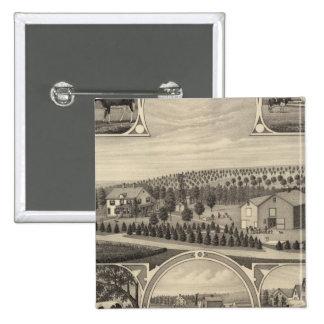 Catalpa, Nebraska 15 Cm Square Badge