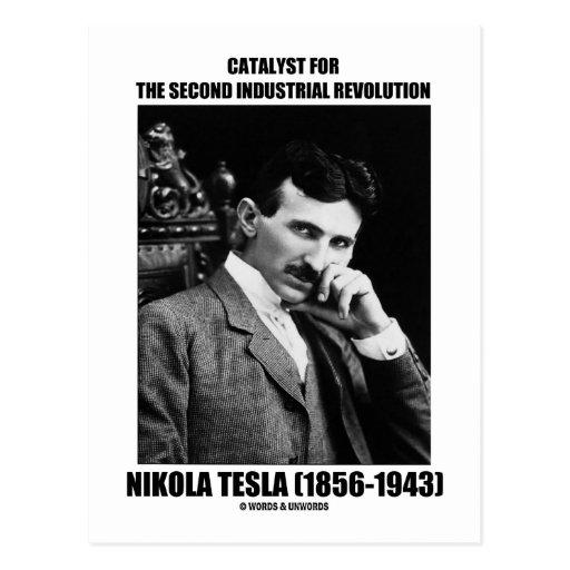 Catalyst For Second Industrial Revolution N. Tesla Post Card