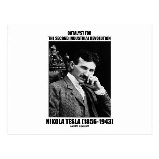 Catalyst For Second Industrial Revolution N. Tesla Postcard