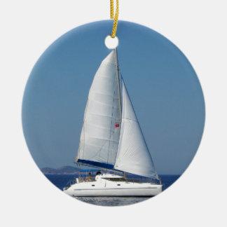 Catamaran Catchup Round Ceramic Decoration