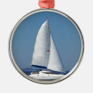 Catamaran Catchup Silver-Colored Round Decoration