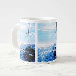 Catamaran in Beautiful Dominica Waters Jumbo Mug