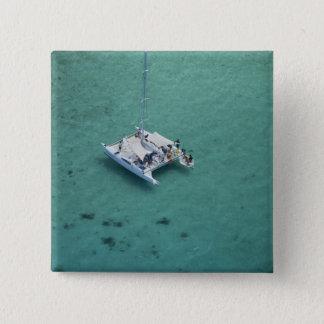 Catamaran, Mamanuca Islands, Fiji, South Pacific 15 Cm Square Badge