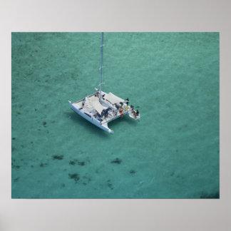 Catamaran, Mamanuca Islands, Fiji, South Pacific Poster