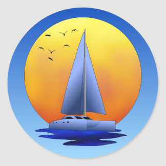 Catamaran Sailing Stickers
