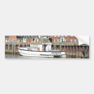 Catamaran Workboat Genesis Car Bumper Sticker