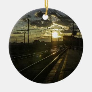 Catania railways at sunset christmas ornament