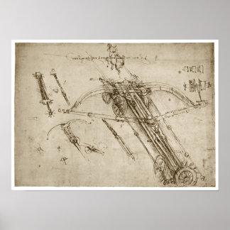Catapult, Leonardo da Vinci, 1490 Poster