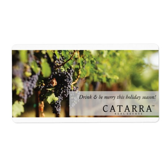 Catarra wine label shipping label