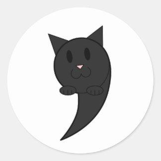 Catastrophe (black) - classic round sticker