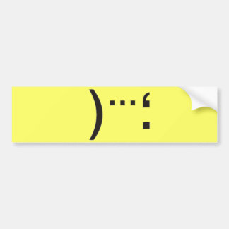 catastrophe bumper sticker