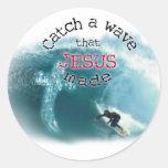 Catch a Wave Round Sticker