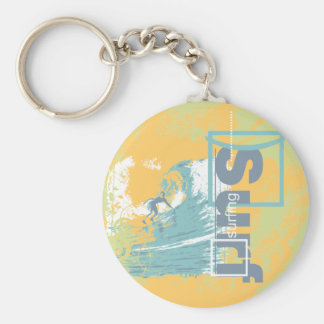 Catch a Wave Surfing T shirts and Gifts Keychain