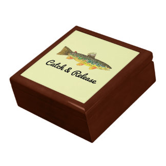 Catch and Release Brown Trout Fisherman's Gift Box