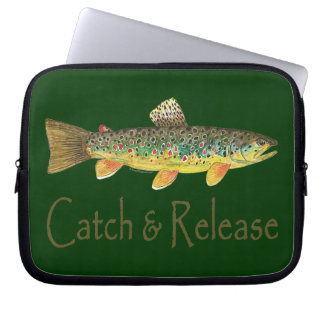 Catch and Release Fishing Laptop Sleeve