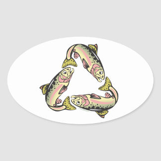 Catch and Release Fishing Oval Sticker